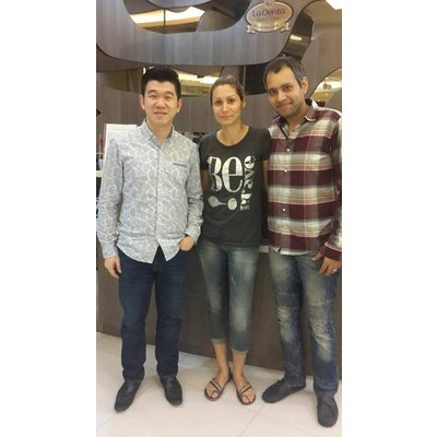 LaDenta Dental Clinic Cambridge - dr Christian and hamid_and_wife_from_iran