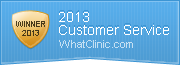 WhatClinic.com Customer Service Award Winner 2013