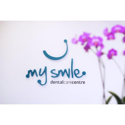 MySmile Dental Care Centre - MySmile logo at reception area
